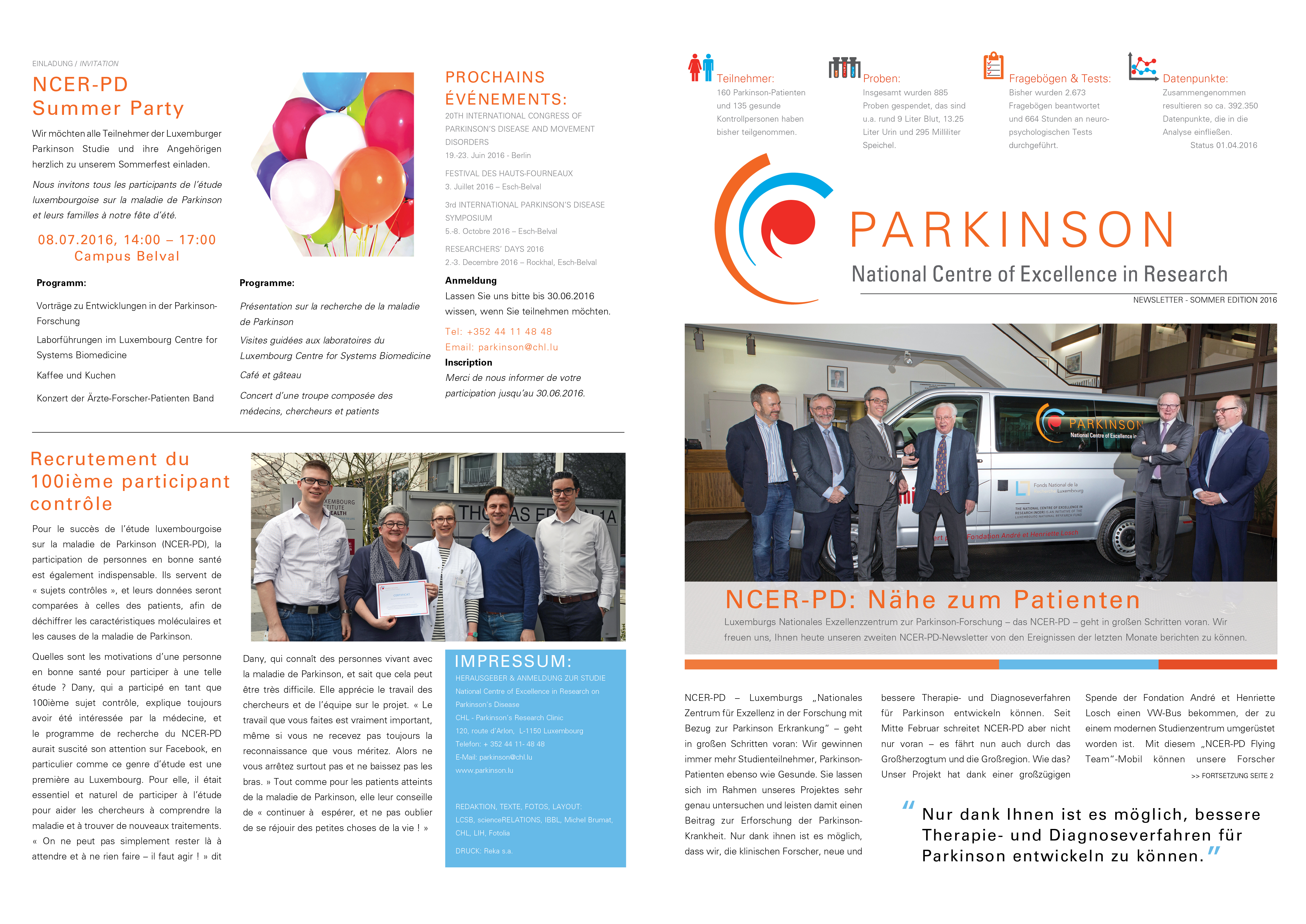 Luxembourg Parkinson Study Newsletter June 2016